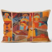 New Paul Klee Temple Garden Cushion - RRP £30.99