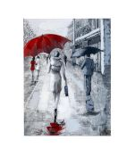 New Rainy Street Scene Canvas