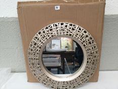New Round Plastic Gold Mirror