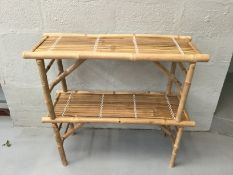 x2 Folding Bamboo Benches