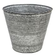 Ribbed Metal Plant Pot - RRP £41.99