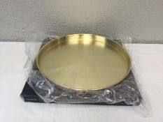 Round Gold Drinks Tray