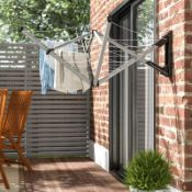 Wallfix 50cm Wall Mounted Clothes Line - RRP £125.00