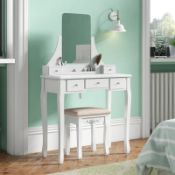 Arkin Dressing Table Set with Mirror - RRP £145.99