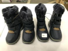 x 2 pairs kids winter boots