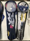 x 2 Badminton Sets