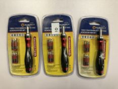 x 3 15 in 1 Precision ratcheting screwdriver set