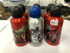 x 6 Avenger metal water bottles