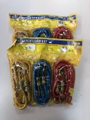 x 2 pks 6pc Stretch bungee cord sets