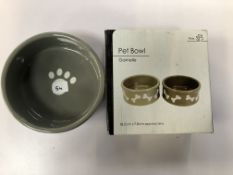 18.5cm Grey pet bowl