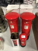 x 3 Postbox money boxes