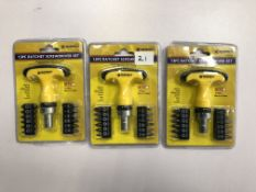 x 3 13pc Ratchet screwdriver sets