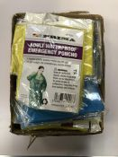 Box adult waterproof emergency ponchos