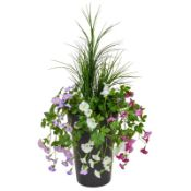 Artificial Petunias & Grass Flowering Plant in Planter - RRP £61.99