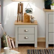 Loretta 2 Drawer Bedside Table - RRP £68.75