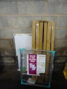 3 ROTARY AIRERS, CLOTHES AIRER & WHITE BOARD