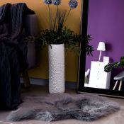 Faux Sheepskin Dark Grey Rug - RRP £47.99