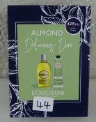 L'Occitane Almond Delicious Shower & hand Duo - RRP £36.00