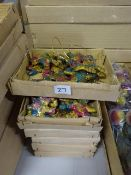 6 BOXES OF NEW VINTAGE HANGING MULTI COLOURED BEAR XMAS DECORATIONS