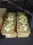 8 BOXES OF NEW VINTAGE SANTA HANGING XMAS DECORATIONS
