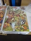 5PKS OF ANIMAL WRAPPING PAPER ( APPROX 100 SHEETS)