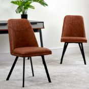 Jaden Set of 2 Dining Chairs - Tan - RRP £199.99