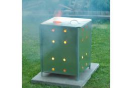 GREGSON NATURE GARDEN INCINERATOR GALVANISED STEEL OUTDOOR FIREPLACE