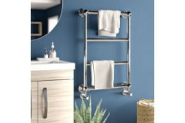 WALL MOUNT WATER-FED HEATED TOWEL RAIL - RRP £320