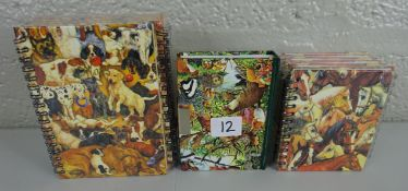 Selection of animal note books and diarys