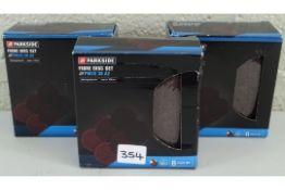 X3 NEW BOXES OF PARKSIDE X6 FIBRE DISC SETS PWZS 38 A2