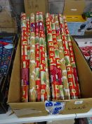 BOX OF 20 ROLLS OF XMAS WRAPPING PAPER (VARIOUS DESIGNS)
