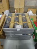 5 BOXES OF GOLD & BLUE LUXURY CHRISTMAS CRACKERS