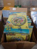 BOX OF APPROX 100 DISNEY HENRY HUGGLE MONSTER FOIL BALLOONS
