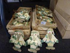 8 BOXES OF SNOWMAN XMAS DECORATIONS. NO VAT