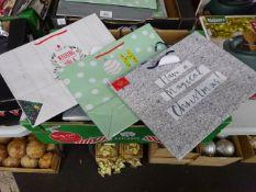 BOX OF 50 LG CHRISTMAS BAGS (3 DESIGNS)