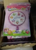 BOX OF SHOPKINS I LOVE SHOPKINS BALLOONS - APPROX 100