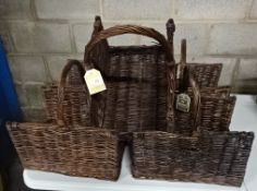 X5 WICKER BASKETS (BROWN)