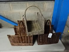 X5 WICKER BASKETS (2 COLOURS)