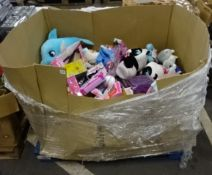 1/2 PALLET OF RAW UNTESTED CHILDS TOYS (DOLLS, TEDDYS ETC)