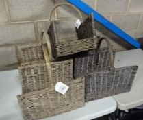 X5 WICKER BASKETS (GREY)