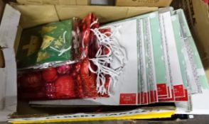 BOX OF XMAS BAGS (DIFF SIZES & DESIGNS)