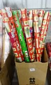 BOX OF XMAS WRAPPING PAPER (ALL DESIGNS & COLOURS)