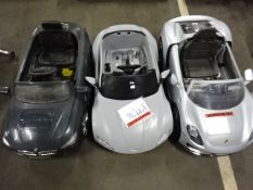 3 UNTESTED CHILDS ELECTRIC CARS (ASTON, BMW &PORCHE) - NO CHARGERS
