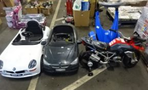 1 WHITE 1 BLACK CHILDS ELECTRIC BMW CAR/SEGWAY/ BMW BIKE