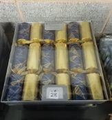 5 PACKS OF 6 GOLD & BLUE LUXURY CRACKERS