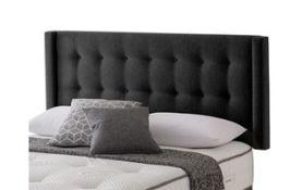 x1| Carpet Right Ex-Display 5ft Silentnight Concord Headboard Midnight |RRP £349|