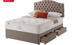 |Carpet Right Ex-Display 5ft Rest Assured Kensington Divan Bed With Headboard & 4 Drawers|RRP £2099