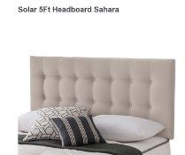 x1| Carpet Right Ex-Display 5ft Silentnight Solar Headboard Sahara|RRP £229|