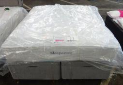 x1|Carpet Right Ex-Display Backcare Prestige 5Ft Mattress|RRP £1149| & Grey 5ft Ottoman Base (No Hea