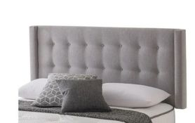 x1|Carpet Right Ex-Display 4ft 6 Silentnight Concord Floor Standing Headboard Steel |RRP £329|